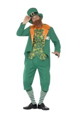 Sheamus Craic Lucky Leprechaun Costume Irish St Patricks Day Party & Hat CS43400_1