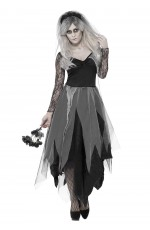 Zombie Graveyard Corpse Bride Womens Horror Halloween Fancy Dress Costume