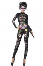Sugar Skull Cat Costume CS43735