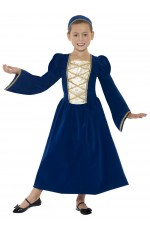 Child Girls Tudor Renaissance Princess Medieval Fancy Dress Costume Childrens Book Week