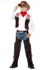 Wild West Cowboy Party Fancy Dress Costume Boys Western Sheriff Rodeo