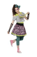 Teen Wild Child 80s Icon Pop Star Rock Diva Tart Madonna 1980s Fancy Dress Girls Costume
