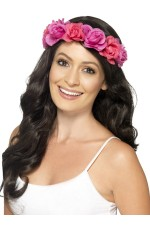 Women Girl Flower Floral Halo Beach Crown Hair Headband Garland Costume Accessories