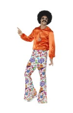 Groovy Flared Bell Bottom 1960s 1970s Hippie Retro Costume Pants Trousers