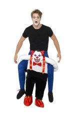 Sinister Clown Piggy Back Adults Halloween Fancy Dress Circus Carry Me Costume Stag Hen Night