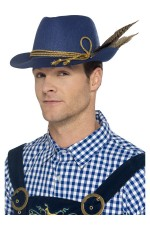 Unisex Authentic Bavarian Beer Oktoberfest Mini Costume Hat with Feathers Outfit Accessory