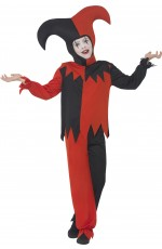 Twisted Jester Costume Halloween Boys Child Kids Harlequin Mask