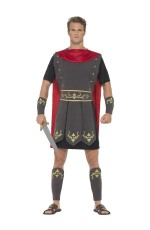 Roman Gladiator Hercules Toga Medieval Halloween Fancy Dress Mens Costume