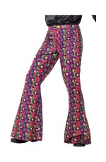 60s Psychedelic CND Flared Trousers Men