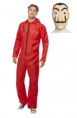 Adult Bank Robber Jumpsuit