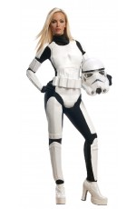 Female Licensed Star Wars Storm Trooper DELUXE Stormtrooper Halloween Adult Costume