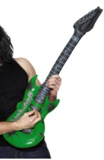 Adult 99cm Inflatable Rock Guitar Assorted Colours 1970s Disco Smiffys Fancy Dress Costume  Accessory