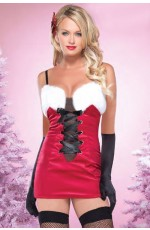 Santa Claus Christmas Costumes - Ladies Santa Claus Christmas Helper Fancy Dress Adult Costume Xmas Party Outfit