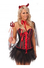 Vampire Costume Devil Corset Fancy Dress Costume