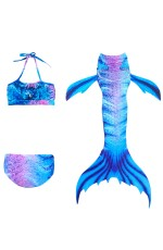 Girls Mermaid tails Swimsuit Costume with Monofin