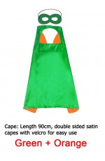 Green & Orange Double sided Cape & Mask Costume set tt1098-15