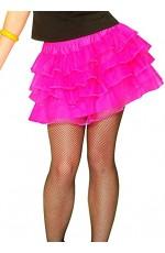 Hot Pink 80s skirt lh186hotpink
