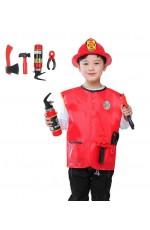 Kids Fire Fighter Fireman Costume