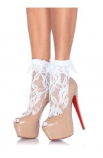 Lace Ankle Socks with Ruffle