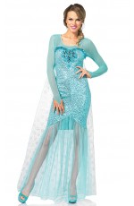 Ladies Frozen Snow Queen Elsa Costume Gown Leg Avenue Fancy Dress