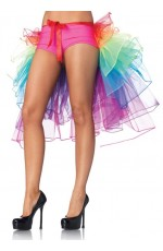 Burlesque Costume Petticoat Showgirl Rainbow tutu Skirt