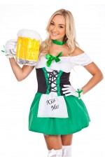 Oktoberfes Costume Wench Beer Maid Gretchen German Heidi Fancy Dress Up