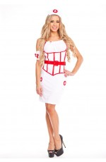 Ladies Nurse Costume Full Outfit