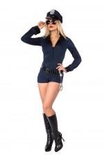 Ladies Navy Police Uniform Costume