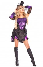 Ladies Vampire Halloween Fancy Dress Costume