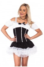 Adult Womens Sexy French Maid Costume Sexy Room Services Occupation Dress Up Hens Night Midnight Maid Halloween Smiffys Fancy Dress