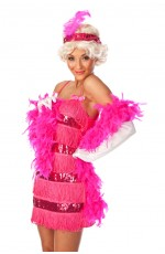Pink Flapper fancy dress costume