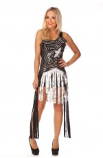Ladies Super Star Dancing Fancy Dress Costume