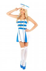Ladies Sailor Pin Up Fancy Dress Costume