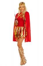 Ladies Roman Toga Robe Greek Goddess Fancy Dress Costume