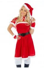 Santa Claus Christmas Costumes - Santa Claus Christmas Helper Fancy Dress Adult Costume Xmas Party Outfit