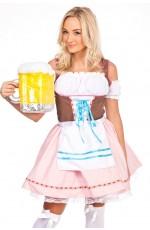 Ladies Oktoberfest Beer Maid Fancy Dress Costume