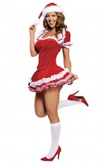 Santa Claus Christmas Costumes - Ladies Santa Claus Christmas Fancy Dress Adult Costume Xmas Party Outfit