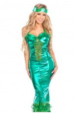Ladies Princess Mermaid Fancy Dress Costume