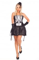Ladies Skull Halloween Vampire Costume