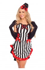 Ladies Halloween Devil Queen Fancy Dress Costume