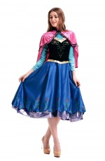 Frozen Ladies Snow Adult Anna Frozen Princess Dress Costume