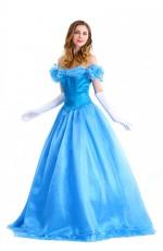 Ladies Deluxe Disney Cinderella Princess Costume Fairy Tale Fancy Dress