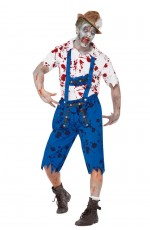 Mens Lederhosen Halloween Zombie Costume lb2104