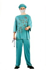ER Surgeon Doctor Mens Medical Scrubs Fancy Dress Halloween Costume
