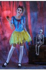Ladies Zombie Snow White Halloween Bloody Costume