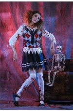 Ladies Zombie School Girl Halloween Bloody Costume