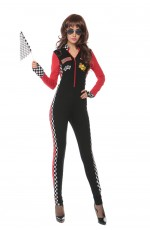 Ladies Car Racer Racing Sport Driver Costume