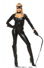 Catwoman Cat Woman Costume Ladies Supergirl Superhero & Villain Fancy Dress