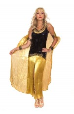 Cleopatra Cleo Egyptian Roman Goddess Cosplay Party Halloween Fancy Dress Costume Outfit