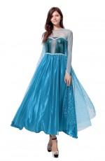 Frozen Ladies Snow Adult Elsa Frozen Princess Dress Costume
